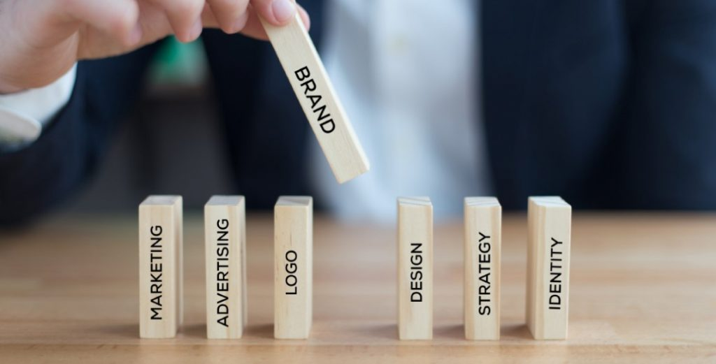 branding and marketing terms on blocks